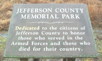 Jefferson County Memorial Park Marker image. Click for full size.