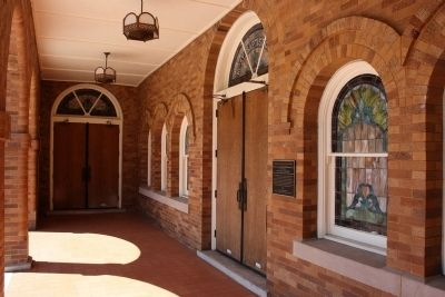 Sixteenth Street Baptist Church Marker by Center Door Entrance image. Click for full size.