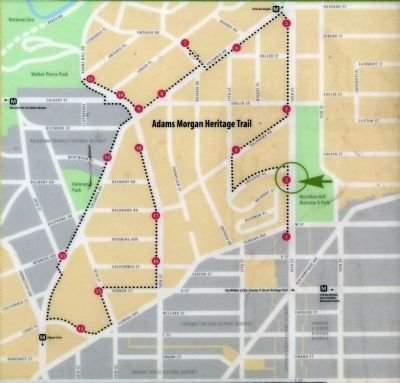 Adams Morgan Heritage Trail Map image. Click for full size.
