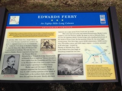 Edwards Ferry Marker image. Click for full size.