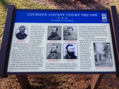 Loudoun County Court Square Marker image. Click for full size.