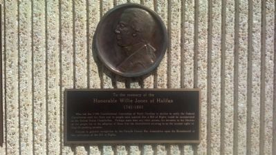 Honorable Willie Jones of Halifax Marker image. Click for full size.