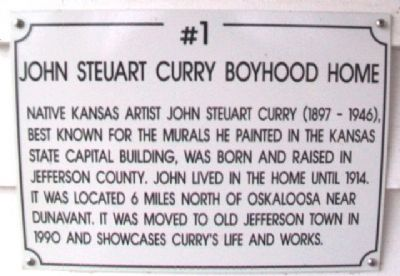 John Steuart Curry Boyhood Home Marker image. Click for full size.