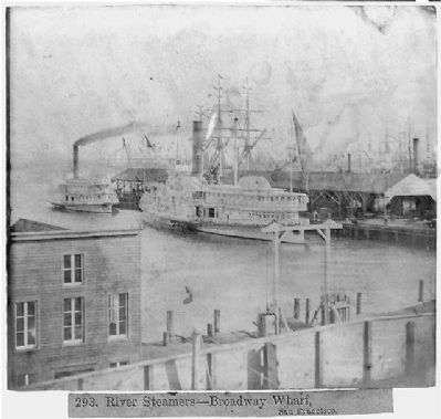 Broadway Wharf With River Steamers image. Click for full size.