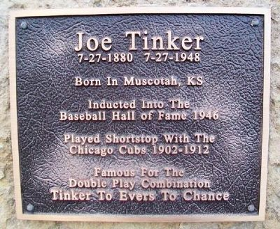 Joe Tinker Marker image. Click for full size.