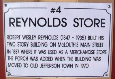 Reynolds Store Marker image. Click for full size.