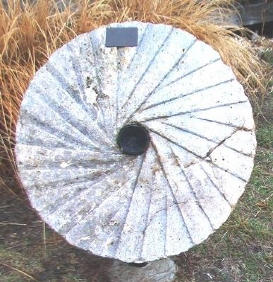 Ozawkie Mill Grinding Wheel and Marker image. Click for full size.