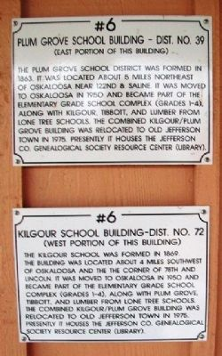 Plum Grove School Buiding - Dist. No. 39 Marker image. Click for full size.