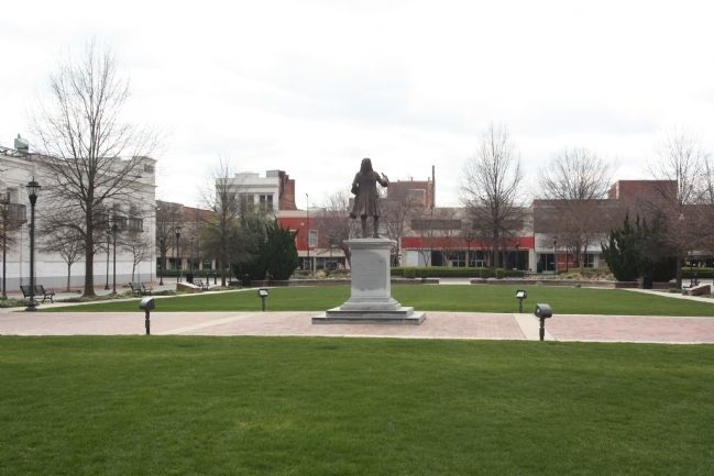 General James Edward Oglethorpe at the center of Augusta Commons image. Click for full size.
