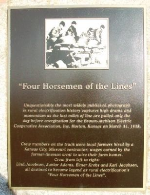 """Four Horsemen of the Lines"" Marker image. Click for full size."