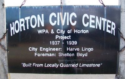 Horton Civic Center Marker image. Click for full size.