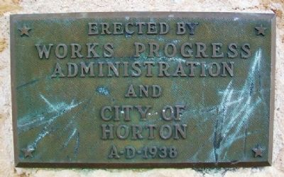 Horton Civic Center WPA Marker image. Click for full size.