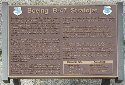 New Boeing B-47 Stratojet Marker, seen in 2013 image. Click for full size.