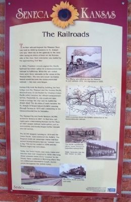 The Railroads Marker image. Click for full size.