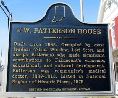 J.W. Patterson House Marker image. Click for full size.