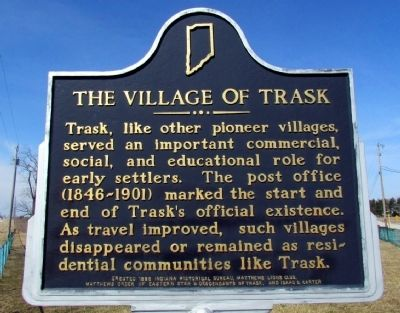 The Village of Trask Marker image. Click for full size.