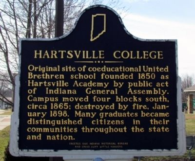 Hartsville College Marker image. Click for full size.
