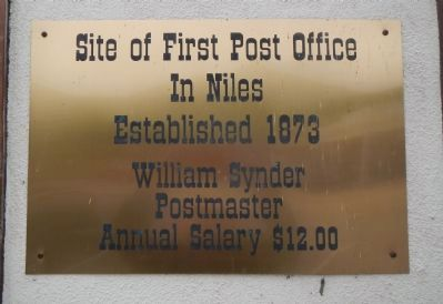 Site of First Post Office Marker image. Click for full size.