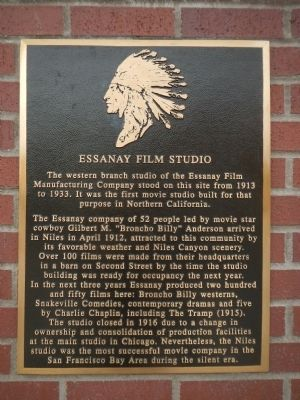 Essanay Film Studio Marker image. Click for full size.