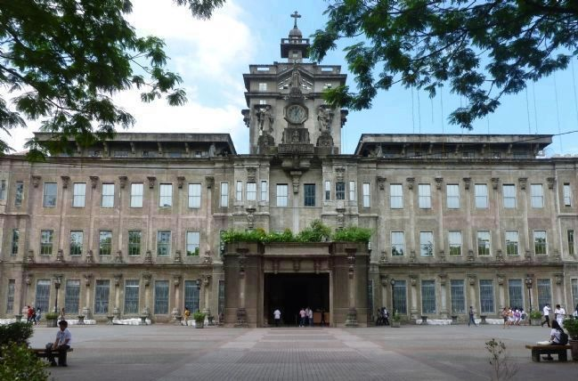 "UST ""Main"" Building (1927) - viewed from across the <i>Plaza Major</i> image. Click for full size."