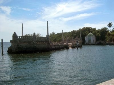 Stone Barge in Biscayne Bay and Vizcaya's Tea House image. Click for full size.