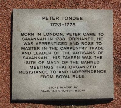 Peter Tondee Marker image. Click for full size.