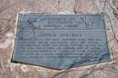 Corn Springs Marker image. Click for full size.