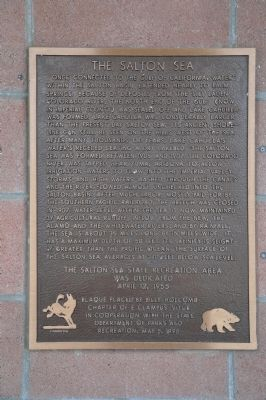 The Salton Sea Marker image. Click for full size.