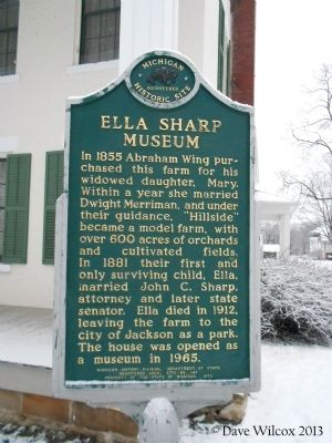 Ella Sharp Museum Marker image. Click for full size.