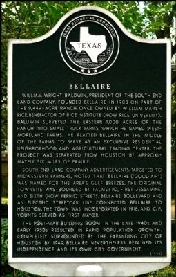 Bellaire Marker image. Click for full size.
