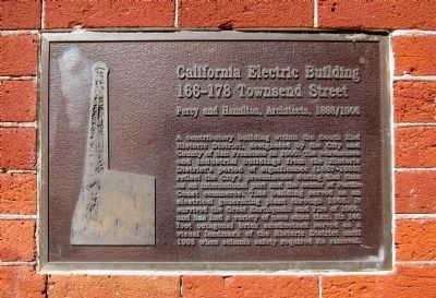 California Electric Building Marker image. Click for full size.