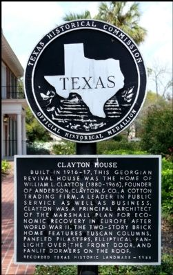 Clayton House Marker image. Click for full size.