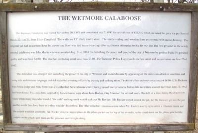 The Wetmore Calaboose Marker image. Click for full size.