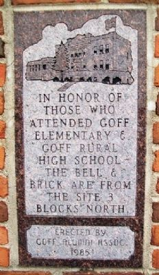 Goff Elementary & Goff Rural High School Marker image. Click for full size.