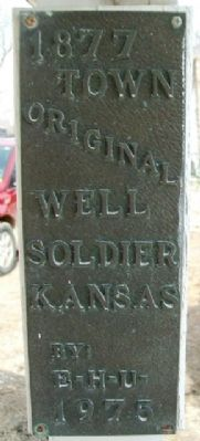 Original Town Well Marker image. Click for full size.