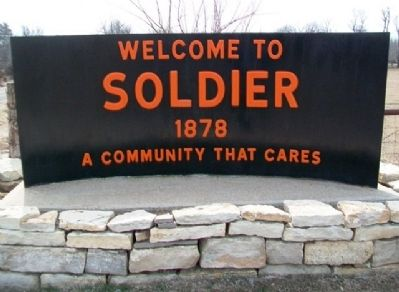 Soldier Town Sign image. Click for full size.
