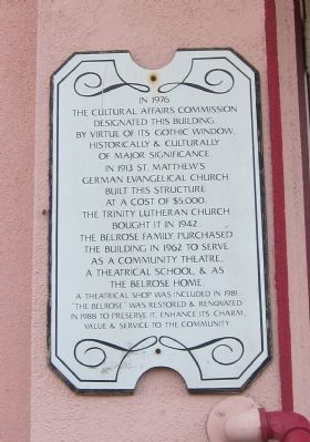 The Belrose Theater Marker image. Click for full size.