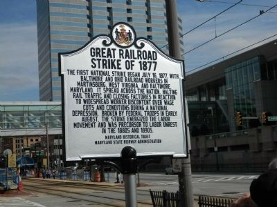 Great Railroad Strike of 1877 Marker image. Click for full size.