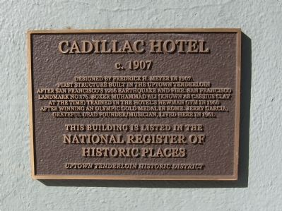 Cadillac Hotel Marker image. Click for full size.