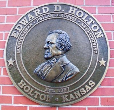 Edward D. Holton Marker image. Click for full size.