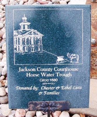 Jackson County Courthouse Horse Water Trough Marker image. Click for full size.
