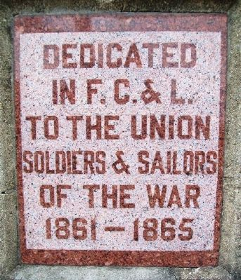 Civil War Memorial Dedication image, Touch for more information