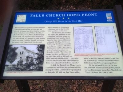 Falls Church Home Front Marker image. Click for full size.