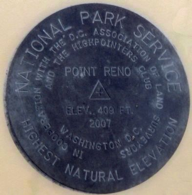Point Reno High Point Marker image. Click for full size.