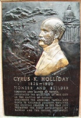 Cyrus K. Holliday Marker image. Click for full size.