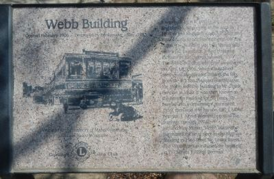 Webb Building Marker image. Click for full size.