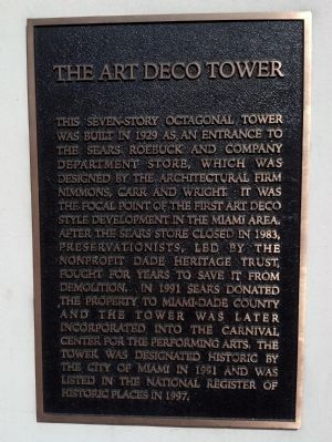 The Art Deco Tower Marker image. Click for full size.