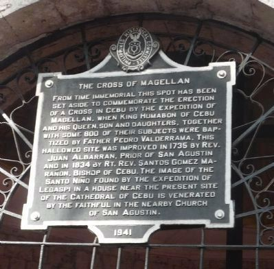 The Cross of Magellan Marker Panel 1 image. Click for full size.