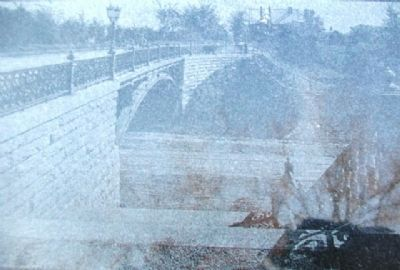 Image of Gladstone Boulevard Bridge over Anderson Avenue on Marker image. Click for full size.