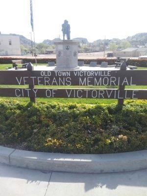 Old Town Victorville Veterans Memorial image. Click for full size.